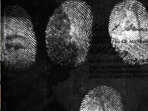 fingerprints on bank note