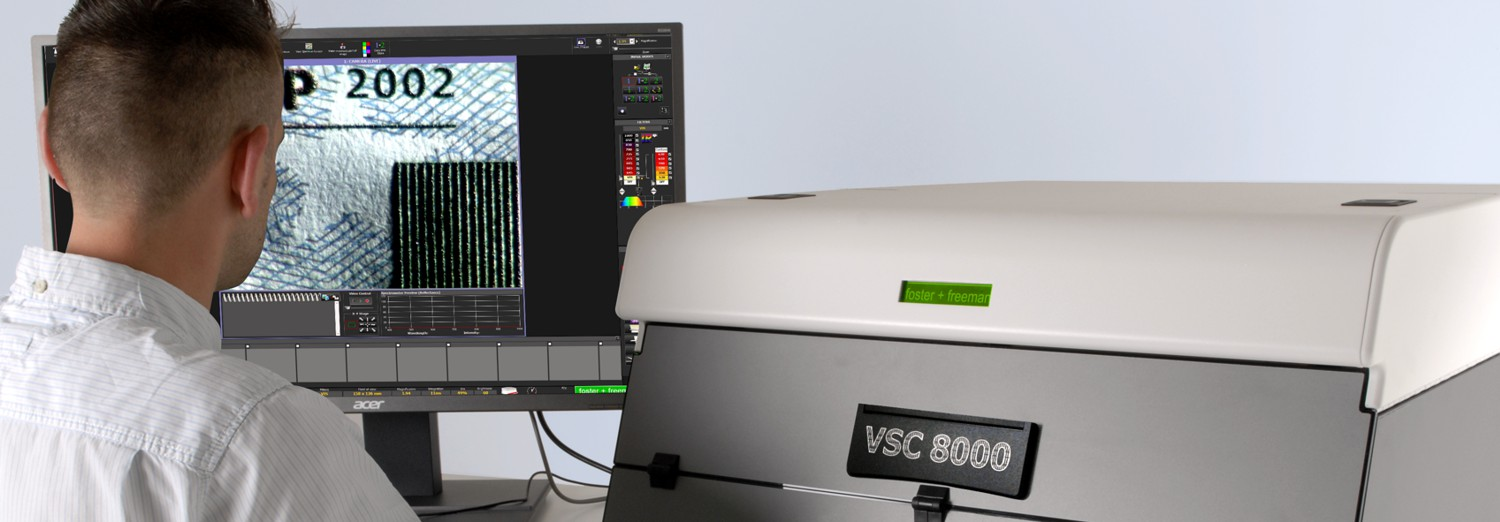 VSC8000 desktop video spectral comparator